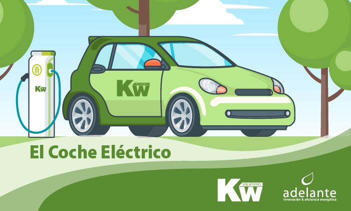Imagen vectorial de un coche eléctrico