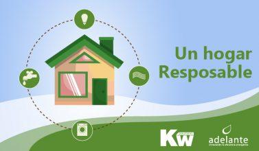 Imagen vectorial de una casa responsable en la que se recicla